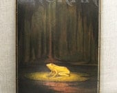 Frog , Oil Painting , Don Seeley , Original Oil , Painting , Art , Fine Art , Frog , Anuran , Amphibian , SAIC Artist , Handmade , Framed