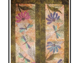 Dragonfly Dream Table Runner Packaged Pattern from Quilt Doodle Designs