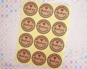 20 units of Handmade with Love stickers. Cookie Sticker. Seal Sticker. Gift Sticker. Ready to ship!