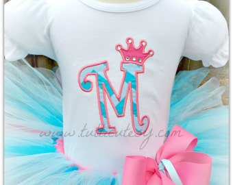 Crown Letter Tutu Outfit