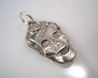 elvis Presley skull sterling silver 925 pendant