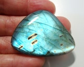 AAAA Amazing Full Flashing Firey Blue Labradorite Smooth FreeForm Huge Cabochon, 40x31x5.6mm, s7-1