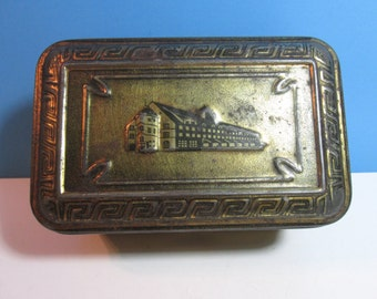 vintage GKW tobacco tin with hinged lid