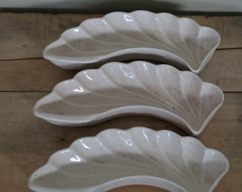 vintage leaf dishes by lane co van nuys california pottery