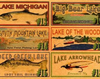 Finger Lakes lake house fishing decor nostalgic fishing lure boxes 4YourLake