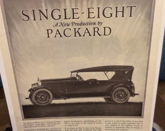 1923 Packard automobile Single Eight print ad