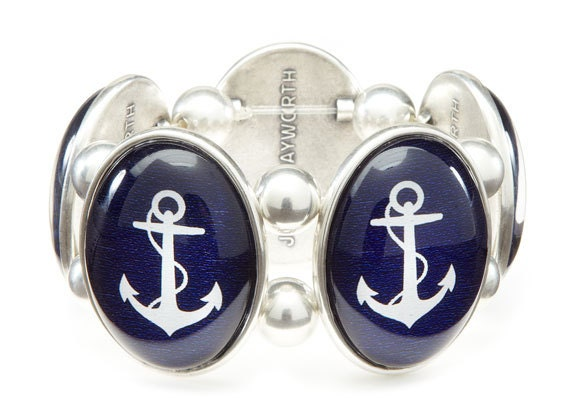 Anchor Cameo Stretch Bracelet