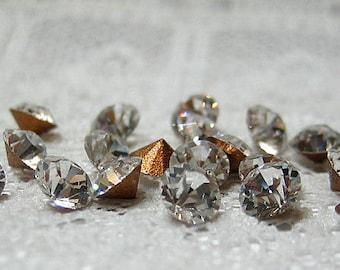 PP29 / SS15 Swarovski Rhinestone Crystal Clear Round Vintage Glass Jewel