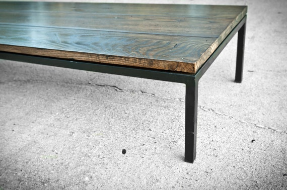 Salvaged Barnwood Coffee Table - Barn wood occasional table - Custom Furniture - Made in the USA - Reclaimed southern barn - Modern table