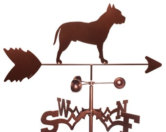Hand Made American Stafford Pit Bull Dog Weathervane NEW