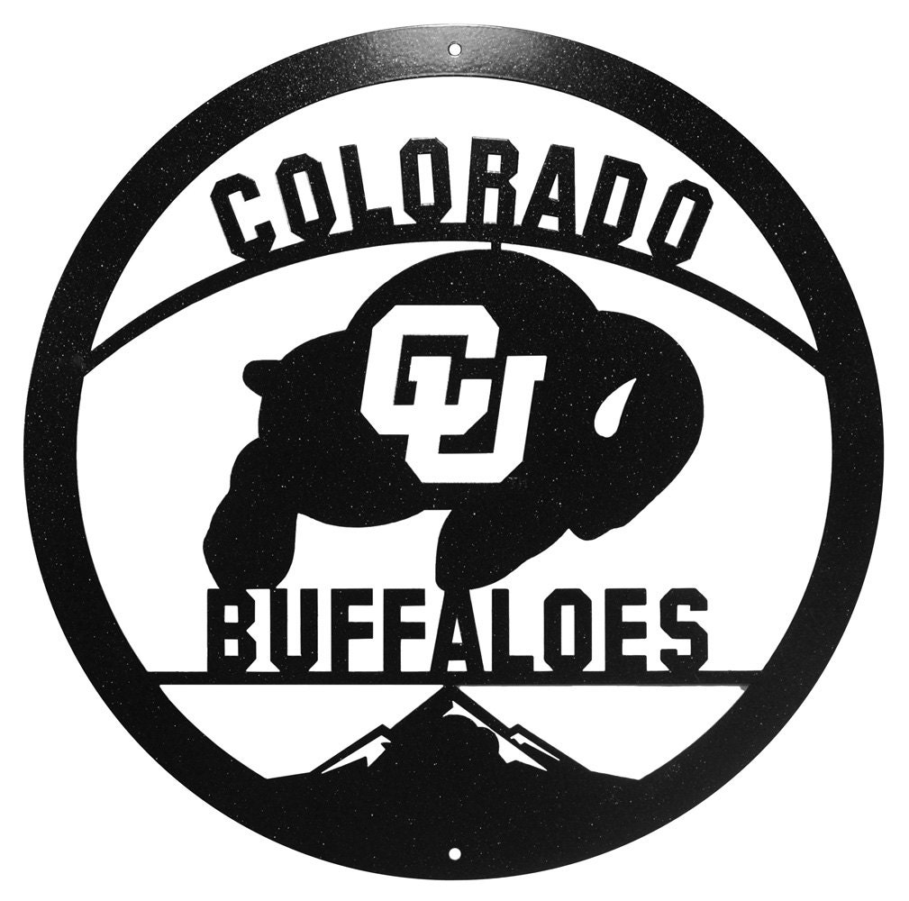 Hand Made Colorado Buffaloes Scenic Art Wall Design NEW