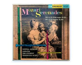 """Alex Steinweiss (attr.) record album design, 1959. Newell Jenkins """"Mozart Serenades"""" LP"""