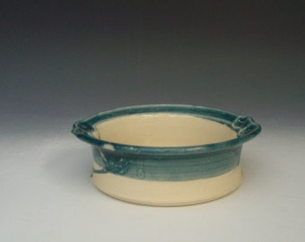 Hand thrown stoneware pottery bowl  (AB-2)