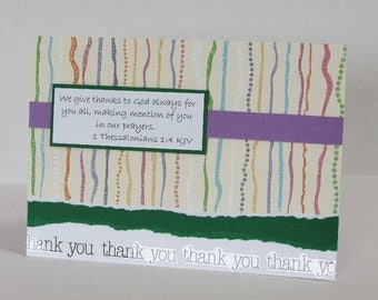 We Give Thanks Christian Thank You Card With Scripture