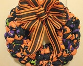 CLEARANCE - Wreath - Halloween Witches and Cats
