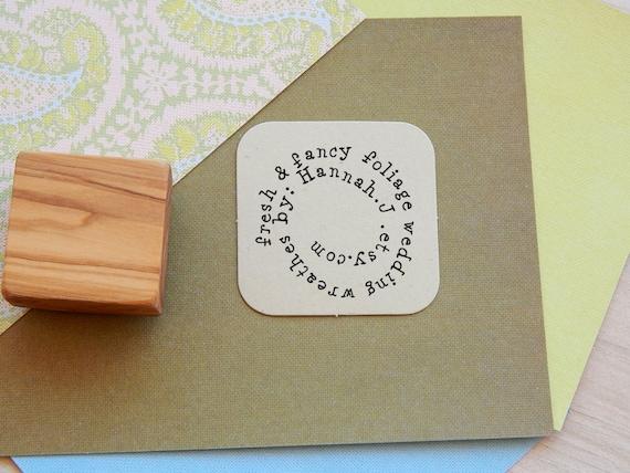 Custom In A Whirl Olive Wood Stamp