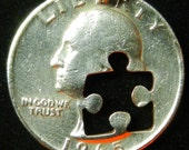 Puzzle Hand Cut Coin Jewelry
