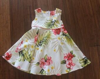 Beautiful Hawaiian Print Dress (All Sizes Available)