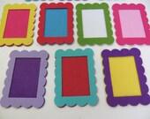 6 Pieces, 3 Sets Die Cut Thick Felt Frames- For Valentine Day DIY Kit