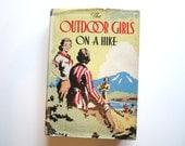 Vintage Adventure Book The Outdoor Girls on a Hike by L.Hope