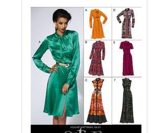 Sz 16/18/20/22/24 - Vogue Dress Pattern V8829 - Misses' Dress and Belt in Six Variations -  Vogue Options