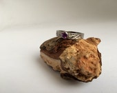 SALE  Sterling silver handmade Amethyst ring, Hallmarked in Edinburgh