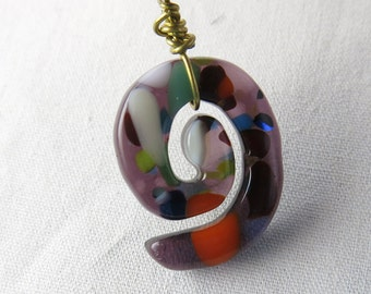Spiral Fused Glass Pendant