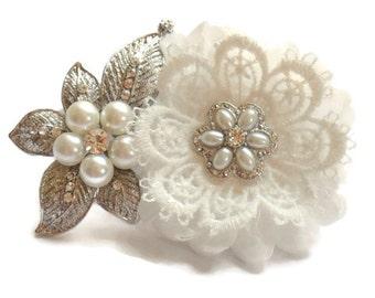 Ivory Hair Accessory,wedding fascinator, Bridal hair piece ,wedding hair piece,bridal fascinator