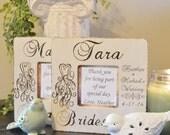 Wood Burned Personalized Wedding Party Frame