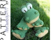 INSTANT DOWNLOAD : KISS Series - Gator Crochet Pattern