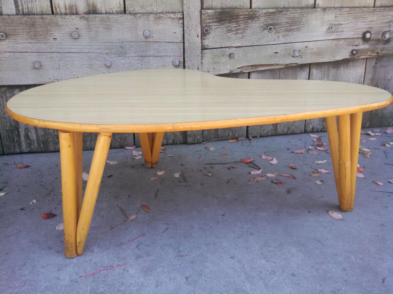 Midcentury Modern 1950s Atomic Coffee Table Hawaiian