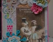 Handmade Christmas Card 5X7.  ECS.