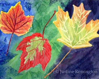 Autumn Leaves - Original painting, watercolor