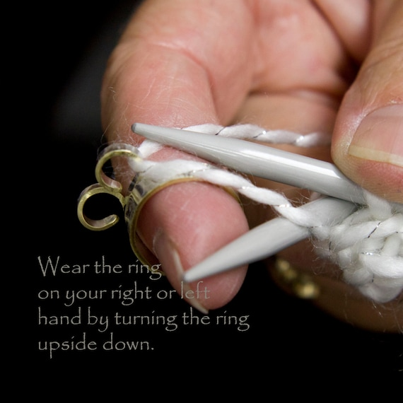 Knitting Ring Yarn Guide : The original wide band knitting ring knit w by