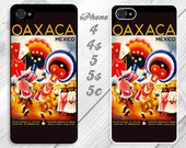 SALE  - iPhone 5 / 5s case cover - black plastic -vintage travel and tourism poster for Oaxaca, Mexico - 1 available #OOPS-010