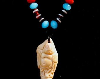 Bone Buddah Beaded Necklace