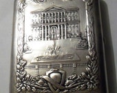 Russian Soviet Cigarette Case - 1950s - Silver Plated Melchior Metal - Ministry of Coal Mining Industry- from Russia / Soviet Union