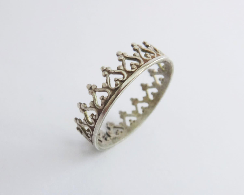 crown ring silver tiara ring sterling silver crown by lovender