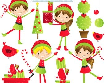 Cute elf clipart – Etsy