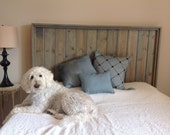 Weathered Gray Solid Wood Queen Headboard beach rustic