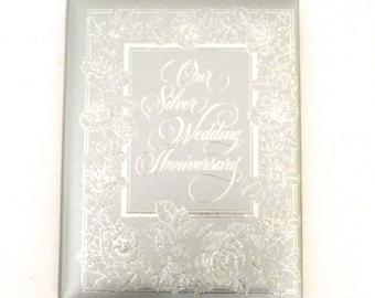 Our Silver Wedding Anniversary, 25th Anniversary Record, Memory Blank Book, Album