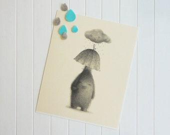 It will not rain over me - Giclée Print