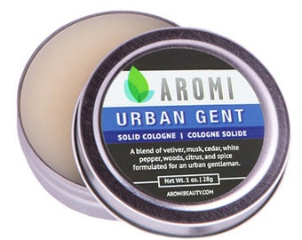 Urban Gent Solid Cologne.  Men's Cologne.  Men's Fragrance.  Solid Fragrance.  Manly Gift.  Manly Solid Cologne.