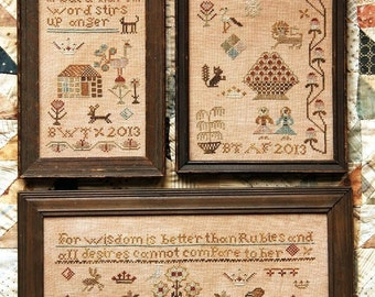 Three Little Proverbs : Cross Stitch Pattern by Heartstring Samplery