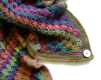 Hand Crocheted Baby Blanket - Beautiful Fall Colors - Pattern Available