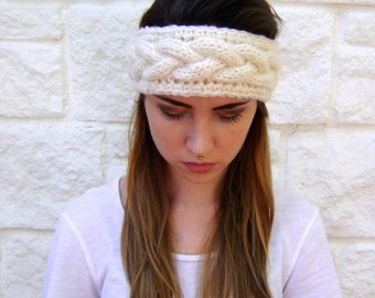 Cable Knit Headband PATTERN - INSTANT DOWNLOAD