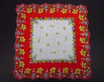 Vintage Handkerchief Colored Floral (vh153)