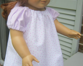 American Girl Clothes, pink polka dot peasant dress for 18 inch doll