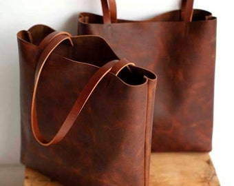camel Brown Leather Tote Bag Brown Leather Bag Leather