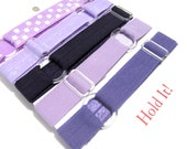 Set of 5 Purples Adjustable Elastic Headband Hair Band Girl Baby Woman Headband Sport Headband